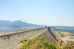 Beautiful of Khun Dan Prakarnchon Dam Royalty Free Stock Image
