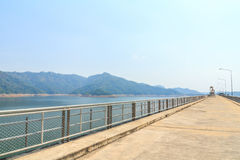 Beautiful of Khun Dan Prakarnchon Dam Royalty Free Stock Image
