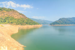 Beautiful of Khun Dan Prakarnchon Dam Royalty Free Stock Photos