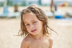 Beautiful kid on the beach Royalty Free Stock Images