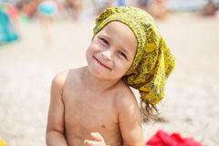 Beautiful kid on the beach Stock Photo
