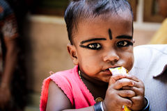 Beautiful kid. Cochin India beautiful little girl Stock Images
