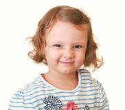 Beautiful kid girl smiling funny royalty free stock photography