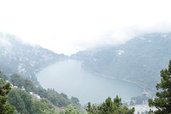 Beautiful kidney shape Nainital Lake Royalty Free Stock Photography