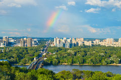Beautiful Kiev cityscape. Ukraine Stock Photos