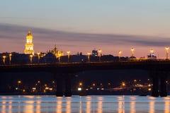 Beautiful Kiev skyline at sunset, Ukraine. Kiev skyline at sunset, Ukraine Stock Image
