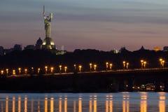 Beautiful Kiev skyline at sunset, Ukraine Stock Photography