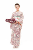 Beautiful kimono woman Stock Image