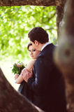 Beautiful kissing happy couple in love Royalty Free Stock Photography