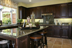 Beautiful Kitchen royalty free stock photos