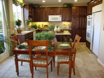 Beautiful Kitchen and Dining Room Stock Photo