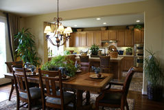 Beautiful Kitchen and Dining Room  Royalty Free Stock Photography
