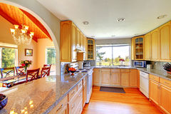 Beautiful kitchen interior Stock Image