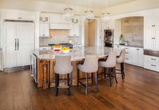 Beautiful Kitchen in New Home Royalty Free Stock Photo