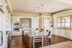 Beautiful Kitchen in New Home Stock Photo
