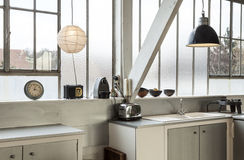 Free Beautiful Kitchen Of A Loft Royalty Free Stock Photography - 29343957