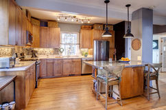 Beautiful kitchen remodel Royalty Free Stock Photo