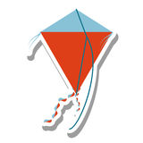 Beautiful kite flying isolated icon. Vector illustration design Royalty Free Stock Photography