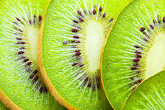 Beautiful kiwi fruit slices background Stock Image