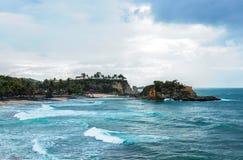 Beautiful klayar beach, east java, indonesia. Blue sea background nature photography stock images