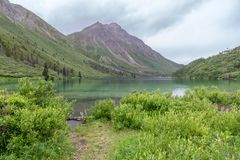 Beautiful Kluane National Park and St Elias Lake, Yukon, Canada stock photos