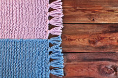 Beautiful knitted scarf Stock Photos