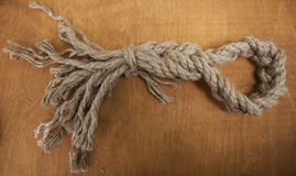 Beautiful knot of a strong rope Stock Image