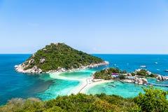 Beautiful Koh Nang Yuan located near Koh Tao, Thailand. Beautiful island of Koh Nang Yuan located near Koh Tao, Thailand Royalty Free Stock Photos