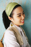 Beautiful Korean girl. Side profile of a beautiful Korean girl Royalty Free Stock Photos