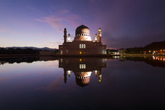 Beautiful Kota Kinabalu city mosque at dawn in Sabah, Malaysia Royalty Free Stock Photography