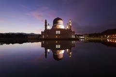 Beautiful Kota Kinabalu city mosque at dawn in Sabah, Malaysia Royalty Free Stock Photography
