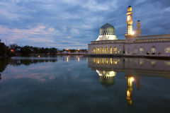 Beautiful Kota Kinabalu city mosque at dawn in Sabah, Malaysia Stock Photo