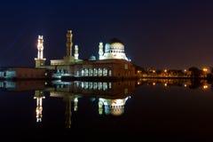Beautiful Kota Kinabalu city mosque at dawn in Sabah, Malaysia Royalty Free Stock Photos