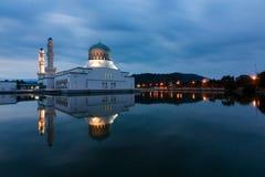 Beautiful Kota Kinabalu city mosque at dawn in Sabah, Malaysia Stock Photography