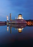 Beautiful Kota Kinabalu city mosque at dawn in Sabah, MalaysiaKota Kinabalu city mosque at dawn in Sabah, Malaysia Royalty Free Stock Photos
