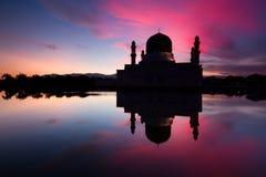 Beautiful Kota Kinabalu city mosque at dawn in Sabah, MalaysiaKota Kinabalu city mosque at dawn in Sabah, Malaysia Stock Images