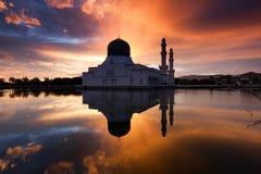Beautiful Kota Kinabalu city mosque at dawn in Sabah, MalaysiaKota Kinabalu city mosque at dawn in Sabah, Malaysia Stock Image