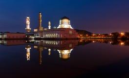Beautiful Kota Kinabalu city mosque at dawn in Sabah, MalaysiaKota Kinabalu city mosque at dawn in Sabah, Malaysia Royalty Free Stock Images