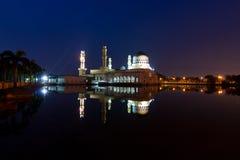 Beautiful Kota Kinabalu city mosque at dawn in Sabah, MalaysiaKota Kinabalu city mosque at dawn in Sabah, Malaysia Stock Photo