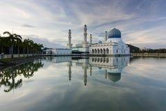 Beautiful Kota Kinabalu city mosque at sunrise Stock Photos