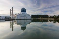 Beautiful Kota Kinabalu city mosque at sunrise Stock Photo