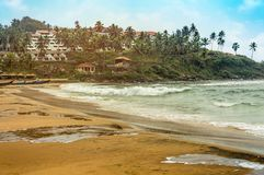 The beautiful Kovalam beach of Kerala, South India. Its called lands of god stock images