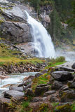 Beautiful Krimml  waterfall and mountain stream on Tauern Nation Royalty Free Stock Image