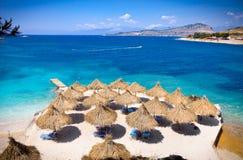 Beautiful Ksamil beach in Albania. Royalty Free Stock Photos