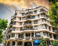 Beautiful la pedrera building in Barcelona Stock Photos