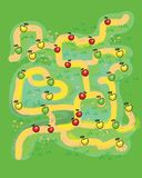 Beautiful labyrinth for children`s games. Bright beautiful labyrinth for children`s games vector illustration