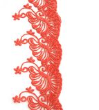 Beautiful lace with floral ornament isolated on white Royalty Free Stock Image