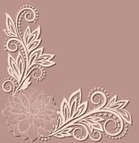 Beautiful lace flower in the corner. Royalty Free Stock Images