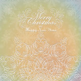 Beautiful lace ornament for merry christmas card Royalty Free Stock Photos