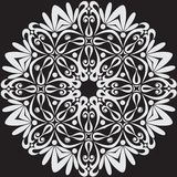 Beautiful lace pattern. The circular background. Stock Photography
